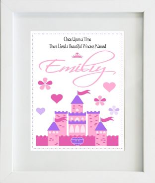 Personalised Once Upon a Time Princess Print